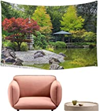 Wall Sheets Tapestry Wall Tapestry for Living Room Red Tree Near The Green Pond in Japanese Garden in Bonn,Germany 72