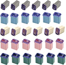 30 Pack Micro Cartridge Fuses Mcase Type Fuse 15amp 20amp 25amp 30amp 40amp for Cars, Trucks, and SUV