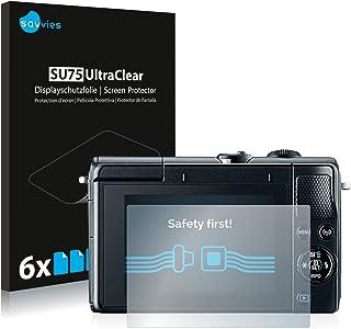 savvies Protector Pantalla Compatible con Canon EOS M100 (6 Unidades) Pelicula Ultra Transparente