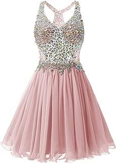 Fanciest Women's Beaded 2019 Prom Dresses Short Bridesmaid Homecoming Dress