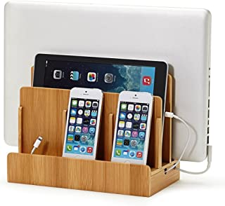 Eco Bamboo Multi-Device Charging Station Dock & Organizer - Multiple Finishes Available. for Laptops, Tablets, and Phones | GUS San Francisco CA |