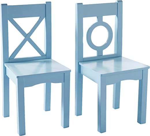 Kids' Furniture ✅Lipper International 521-2BL Child's Chairs for Play or Activity, 12.75″ W x 12.5″ D x 27.25″ H, Set of 2, Light Blue