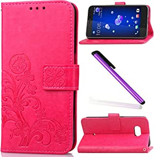 EMAXELER HTC U11 Version Case Cover Stylish Case Protect Kickstand Flip Case Credit Cards Slot Cash Pockets PU Leather Flip Wallet with Stand for HTC U11 Version