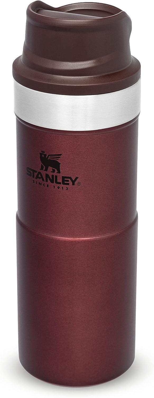 Stanley Trigger Action Travel Mug 0.35L / 12OZ Vino – Anti-Fugas - Vaso Para Café, Té y Agua - Sin BPA - Taza de Viaje de Acero Inoxidable - Apta Para Lavavajillas