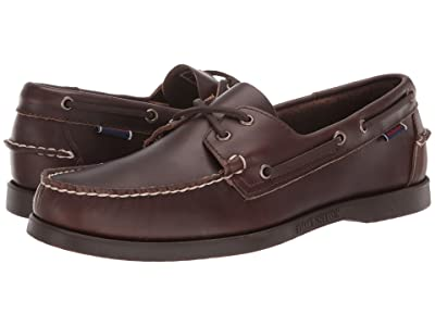 Sebago Dockside Portland Waxed (Dark Brown Gum) Men