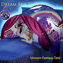 Dream Tent Unicorn Fantasy for Kids Play Tent Foldable Pop up Bed Tent Magic Playhouse Princess Secret Castle Birthday Christmas for Girls