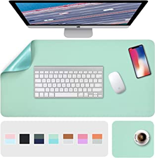 """Desk Pad, Desk Mat, Mouse Mat, XL Desk Pads Dual-Sided Green/Blue, 31.5"""" x 15.7"""" + 8""""x11"""" PU Leather Mouse Pad 2 Pack Wate..."""