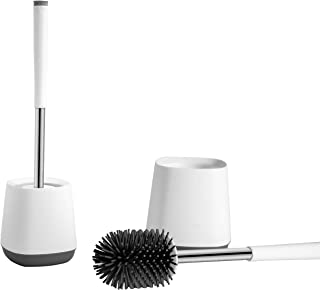 Nicoman Toilet Brushes, Stainless Steel Handle, Set of 2