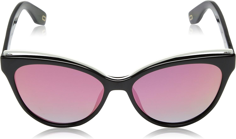 Marc Jacobs Womens MARC301/S Polarized Cat-Eye Sunglasses, Black, 55 mm