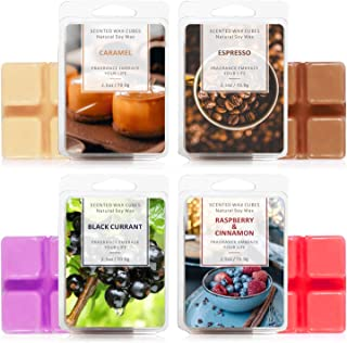 LA BELLEFÉE Scented Wax Cubes,Wax Melts, Food Scented Wax Melts, Natural Soy Wax Cubes, for Warmer(4x2.5oz, Caramel, Espre...