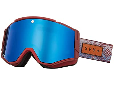 Spy Optic Ace (Native Nature Red Happy Rose w/ Dark Blue Spectra) Goggles