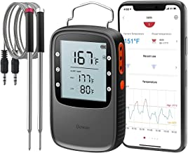 Govee Bluetooth Meat Thermometer, Smart Grill Thermometer, 196ft Remote Monitor, Large Backlight Screen, Alarm Notification for Smoker BBQ Oven Kitchen Candy