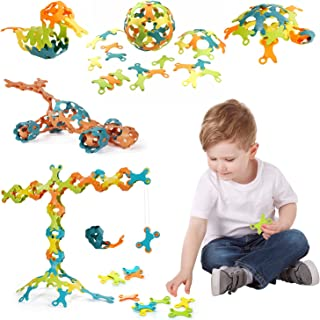 Kids Building Blocks Stacking Toy for Toddlers 60 Pieces Tuomi Pieces Children Educational Toy for Boy and Girls