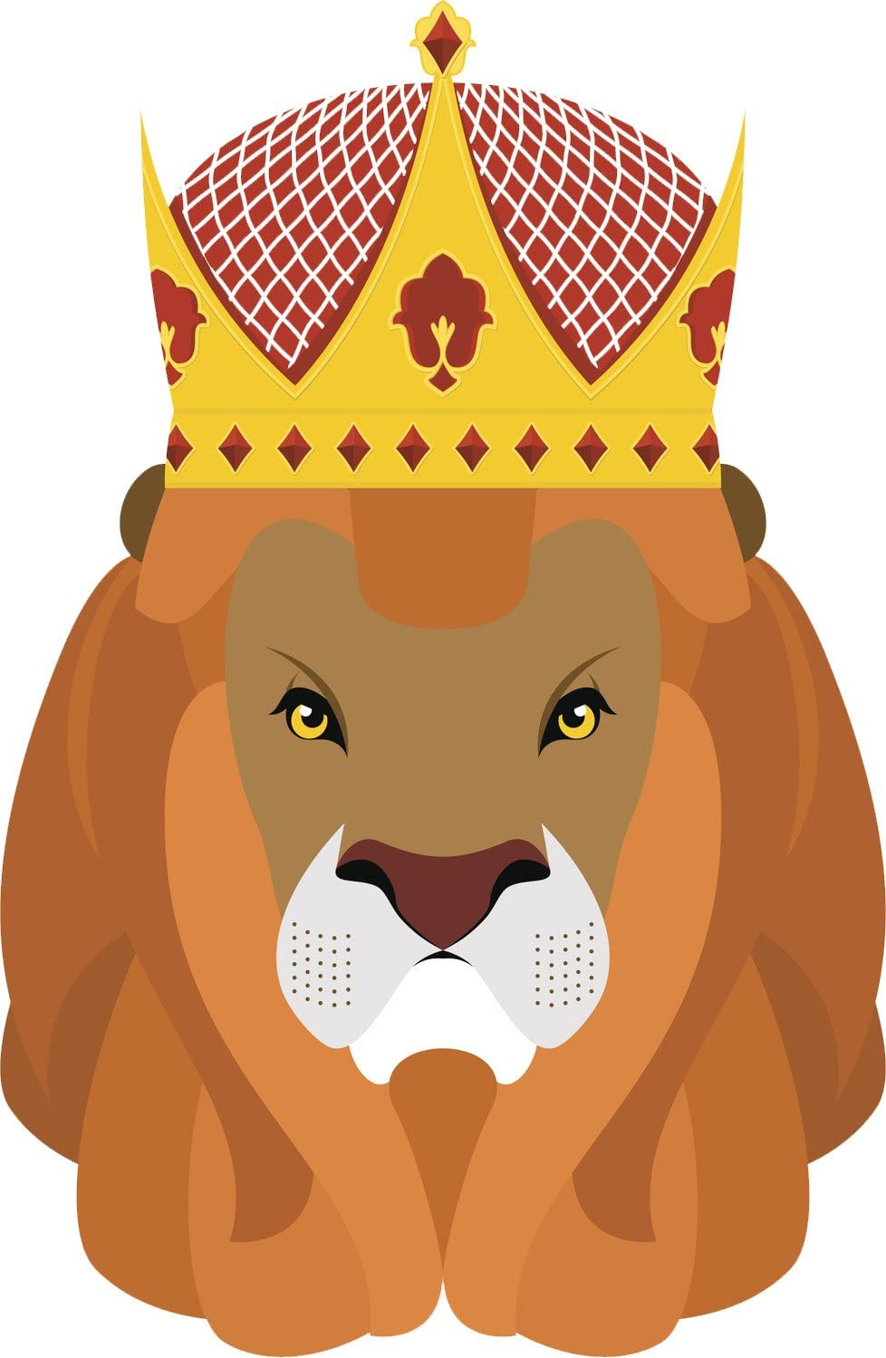 Amazon Com Angry Grumpy Lion Majestic King With Crown Cartoon Icon Vinyl Decal Sticker 2 4 8 12 Tall Automotive Lion prince simba and his father are targeted by his bitter uncle, who wants to ascend the throne himself. crown cartoon icon vinyl decal sticker