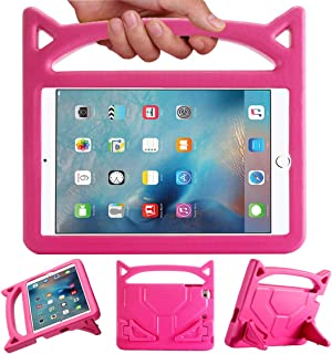 DJ&RPPQ キッズケース iPad Mini 1 2 3 4 5用 - 軽量耐衝撃ハンドル フレンドリーな変換スタンド キッズケース iPad Mini Mini 5 Mini 4 iPad Mini 第3世代 Mini 2タブレット用 - パープル For iPad Mini 1 2 3 4 5 Tablet
