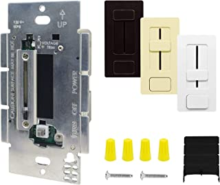 HitLights 100 Watt LED Driver and Dimmer Switch Single Integrated Unit, EZDim 120V AC – 24V DC Wall Dimmer Switch Compatible with Most Solid Color 24VDC Tape Lights and Fixtures, UL Listed