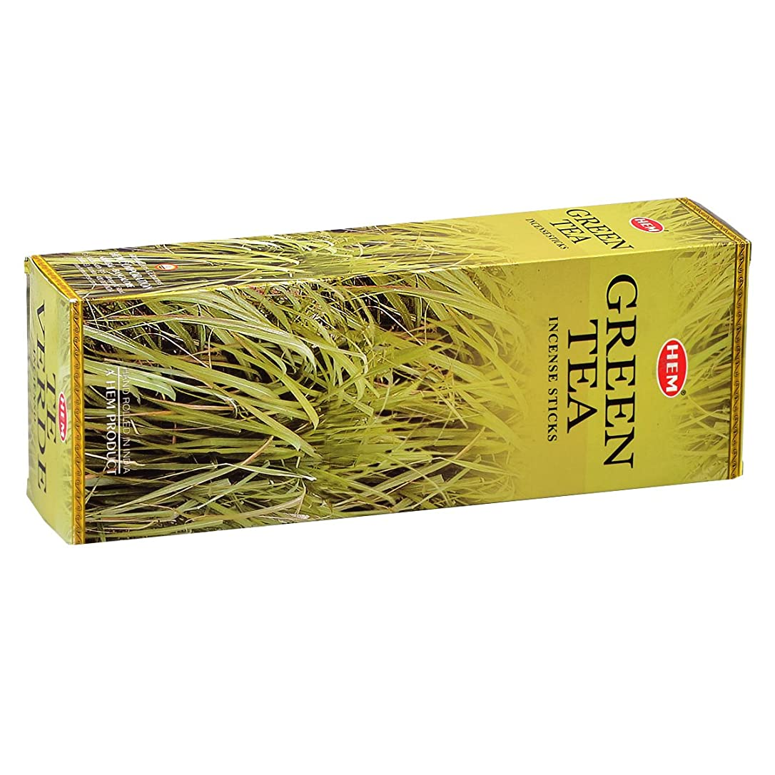 ポインタうれしい大気HEM(ヘム) グリーン ティー GREEN TEA スティックタイプ お香 6筒 セット [並行輸入品]