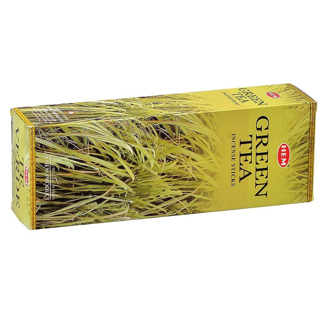 アラブペルー分析HEM(ヘム) グリーン ティー GREEN TEA スティックタイプ お香 6筒 セット [並行輸入品]