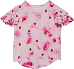 Linen Jersey Flutter Sleeve Shirttail Tee (Little Kids/Big Kids)