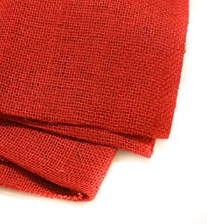 Burlap Fabric, 38-40 Inches Wide, Over 100 Yards in Stock - 100% Jute - Red