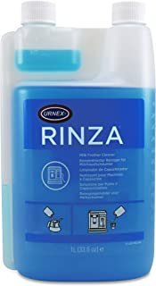 Urnex Rinza Alkaline Formula Milk Frother Cleaner – 33.6 Ounce [Over 30 Uses] – Breaks Down Milk Protein Fat and Calcium Build Up Cycles Through Auto Frother Cleans Lines Steam Wands & Steel Pitchers