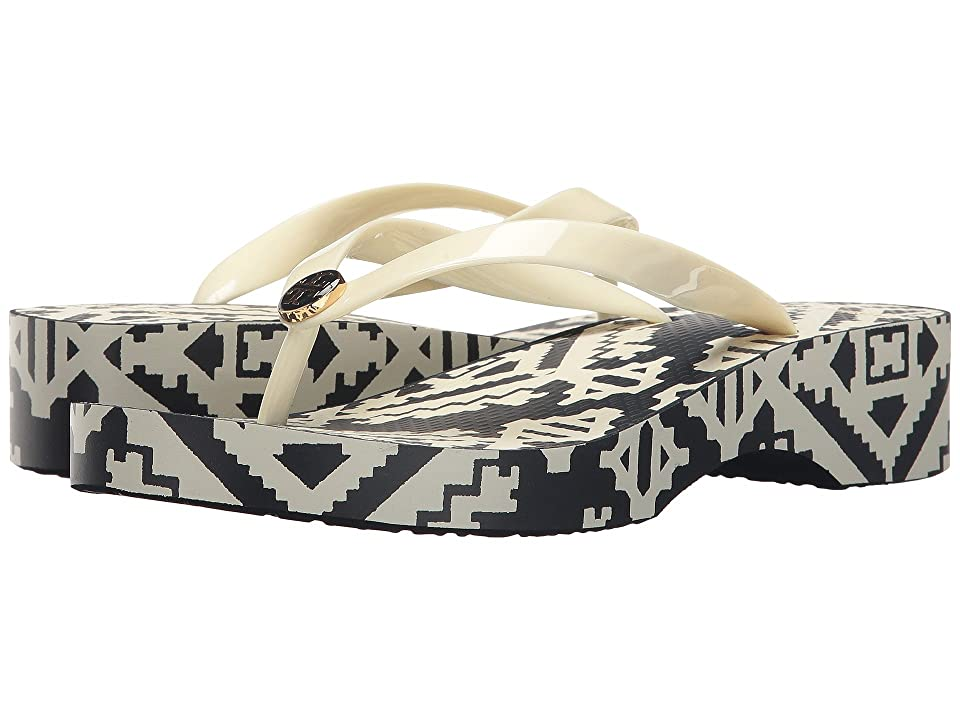 Tory Burch Wedge Flip-Flop (Perfect Ivory) Women