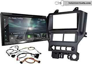 Kenwood DDX6706S Double Din Radio Install Kit With Apple CarPlay, Android Auto, Sirius XM Ready Fits 2015-2017 Mustang