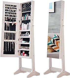 Armoire à Bijoux avec Miroir Organisateur Bijoux Bijoux À Domicile Organisez Une Boîte À Bijoux Multifonctionnelle Boîte À...