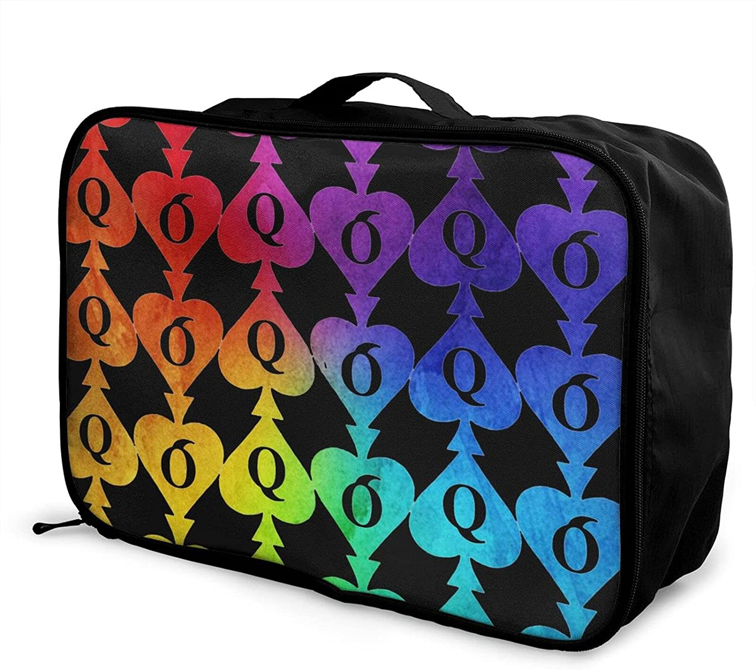 Foldable Travel Bag Today's only Tote Queen Spades SALENEW very popular Of Poker Carry-On Duf