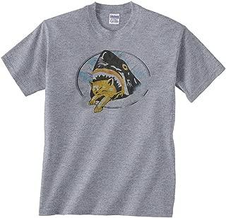 Men's Shark Eating Kitten Cat T-Shirt