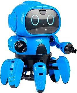 JUGUETECNIC │ Six el robot para niños de montar │ Reproduce gestos y esquiva obstáculos | Robótica educativa para interact...