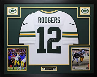 framed aaron rodgers signed jersey