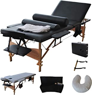 New Fold Massage Table Portable Facial Bed W/sheet+cradle Cover+2 Bolster 84