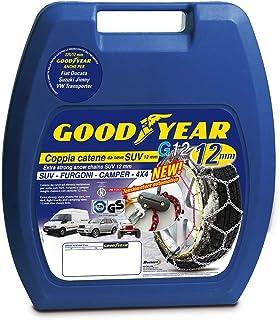 Goodyear 77931 snökedjor 12 mm för SUV, skåpbilar och husbilar med självspänningssystem, storlek 227