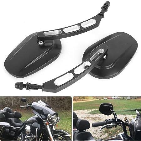 M8 8mm Spiegel Motorrad Lenkerendenspiegel Motorrad Für Sportster 1200 Xl 1200c Fatboy Dyna Softail 8mm Auto
