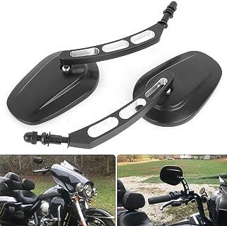 M8 8mm Spiegel motorrad, lenkerendenspiegel motorrad Für Sportster 1200 XL 1200C Fatboy Dyna Softail 8mm
