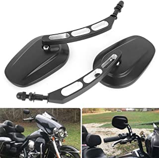 8mm Black Motorcycle Rearview Side Mirror Hollow styling for Harley Bobber Cruiser Custom MT