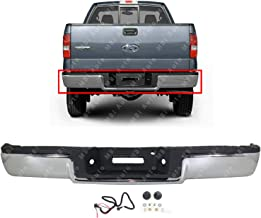 MBI AUTO - Chrome Steel, Rear Step Bumper Assembly for 2004-2005 Ford F150 Light Duty Pickup, FO1103117