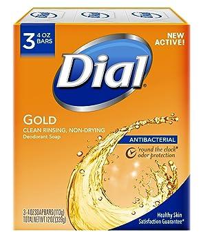 Dial Antibacterial Deodorant Bar Soap Gold