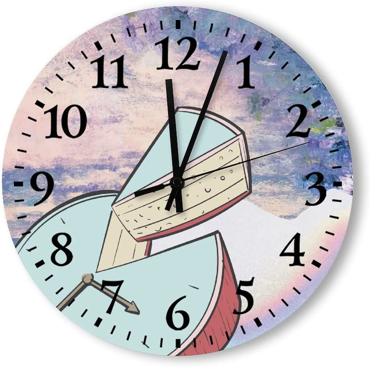 Wall Clock Silent NEW Non Ticking Battery Operate Modern Clocks