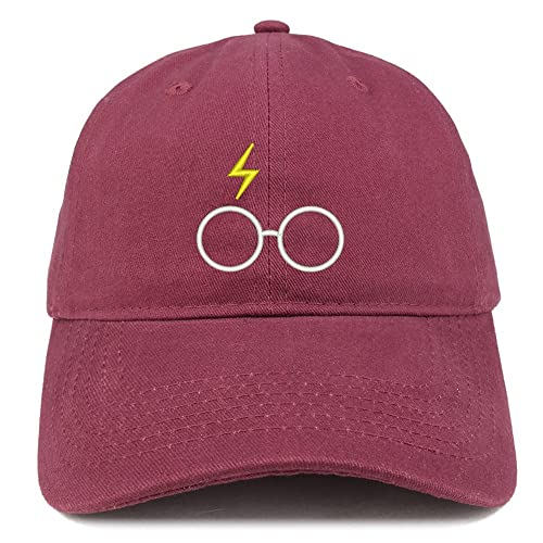 2c52ee23644 Trendy Apparel Shop Harry Glasses Embroidered Soft Cotton Adjustable Cap  Dad Hat
