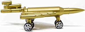 Vintage Airplane Decor - Bullet Shell Casing Military Fighter Jet with Functional Wheels - Model : Aircraft - Biplane Pendant Toys for Photo Props, Christmas Tree Ornament, Desktop Decoration & More