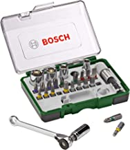 Bosch Screwdriver Bit And Ratchet Set, 27 Pieces