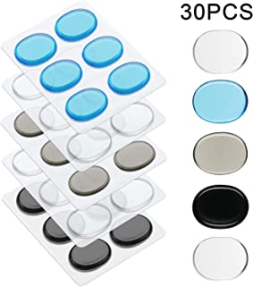 Drum Dampeners Gel Pads Silicone Drum Silencers Dampening Gel Pads Non-toxic Soft Drum Dampeners for Drums Tone Control (30 Pieces, Color Set 1)