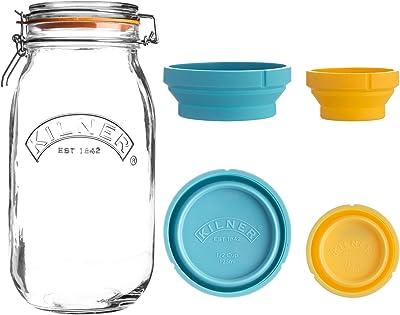 Kilner Measure and Store Jar Set, 2L, Clear 0222