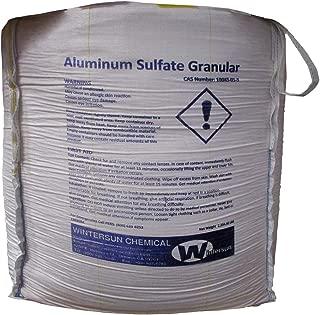 Aluminum Sulfate Granular [10043-01-3 ] [CAS_Al2(SO4)3] 99+% White (2204.6 lbs Super Sack) by Wintersun Chemical