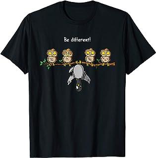 Be different - Taube lustig Eulen Fun Vogel Spruch Geschenk T-Shirt
