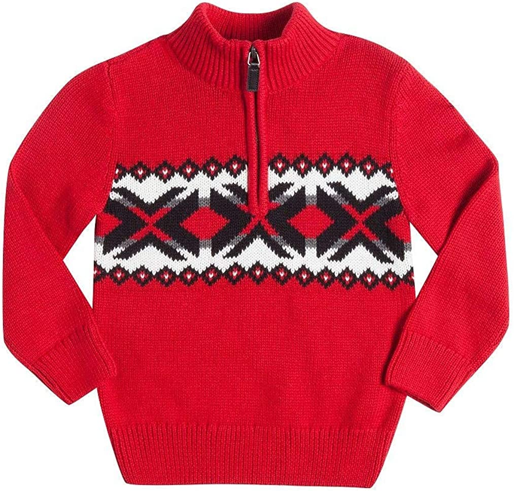 Chaps Toddler & Boys1/4 Zip Pullover Sweater