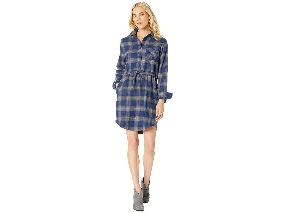 United By Blue Moraine Flannel Dress (Navy) Women