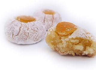 Siciliaanse amandel petit fours gemaakt van sinaasappels uit Sicilië (doos 1kg). RAREZZE: cannoli en cassate van AMBACHTEL...